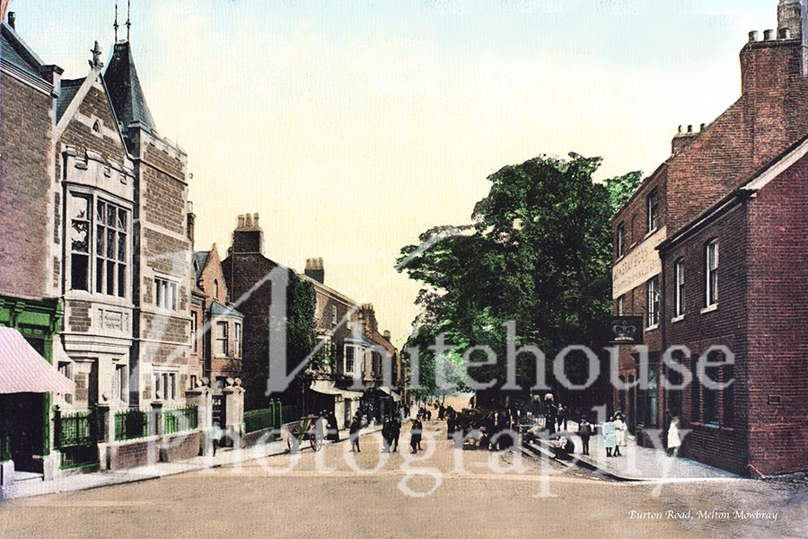Vintage colour photo looking down Burton Road