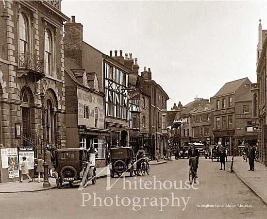 Vintage photo of Nottingham Street and Dickinson & Morris