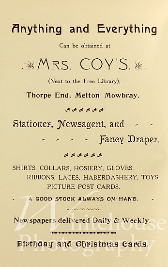 Mrs Coy's Coronation advert